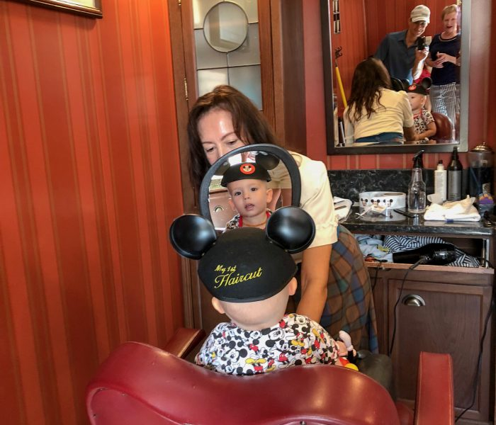 First Haircuts at Magic Kingdom's Harmony Barbershop