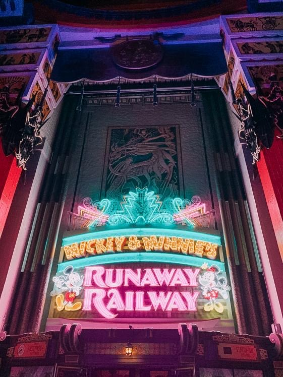 Taking A Ride On Mickey and Minnie's Runaway Railway