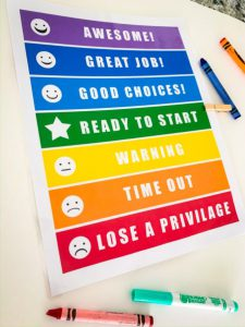 Free Printable Homeschooling Rewards Chart